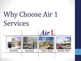 Why Choose Air 1 Services