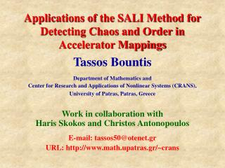 Applications of the SALI Method for Detecting Chaos and Order in Accelerator Mappings