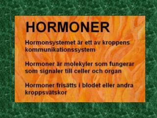 Könshormoner och sexuell identitet
