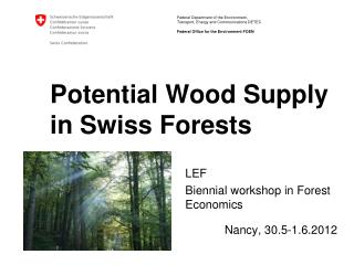 Potential Wood Supply in Swiss Forests