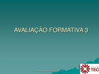 AVALIAÇÃO FORMATIVA 3