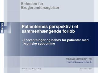 Afdelingsleder Morten Freil patientoplevelser.dk