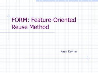FORM: Feature-Oriented Reuse Method