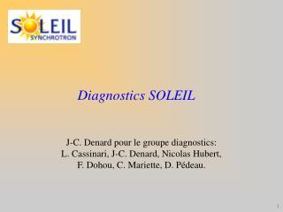 Diagnostics SOLEIL