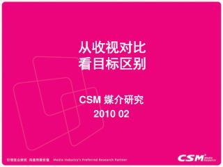 CSM  媒介研究 2010 02