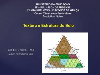 Prof. Dr. Corlett, F.M.F Textura e Estrutura do  Solo