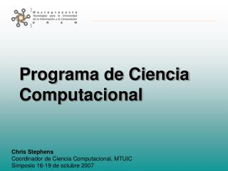 Programa de Ciencia Computacional
