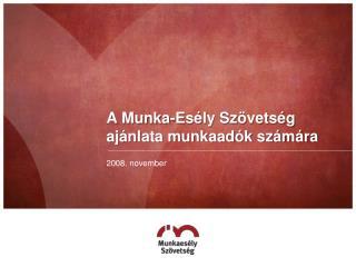 A Munka-Esély Szövetség ajánlata munkaadók számára