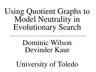 Quotient Models and Graphs: