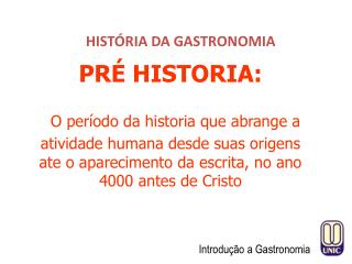HIST�RIA DA GASTRONOMIA