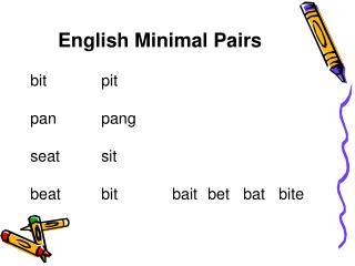 English Minimal Pairs