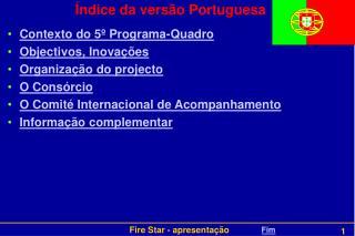 Índice da versão Portuguesa
