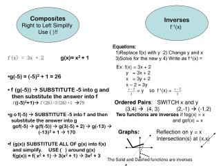 Composites Right to Left Simplify  Use ( )!!