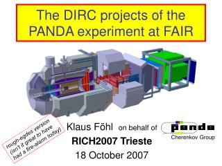 The DIRC projects of the PANDA experiment at FAIR