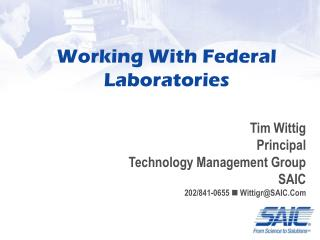 Working With Federal Laboratories