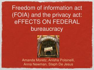 Freedom of information act (FOIA) and the privacy act: eFFECTS ON FEDERAL bureaucracy