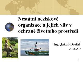 Nestátní neziskové organizace a jejich vliv v ochraně životního prostředí