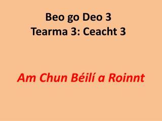 Beo go Deo 3 Tearma 3: Ceacht 3