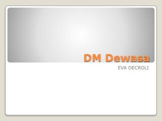 DM Dewasa