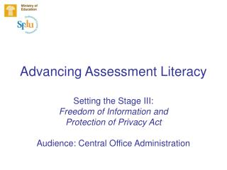 Advancing Assessment Literacy