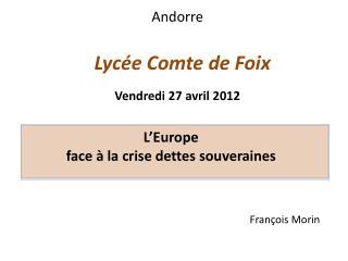 Lyc�e Comte de Foix