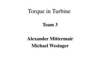 Torque in Turbine