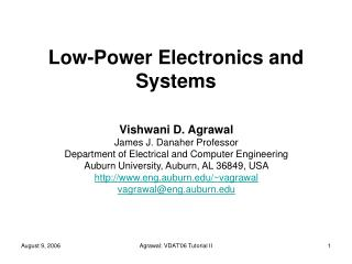 Low-Power Electronics and Systems