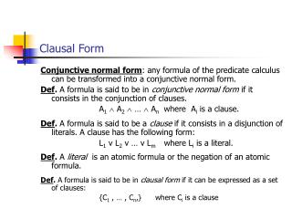 Clausal Form