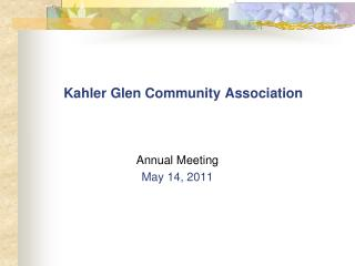 Kahler Glen Community Association
