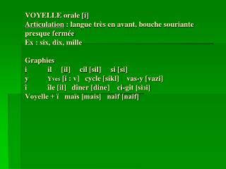 Exercice: Faites une transcription phonétique.