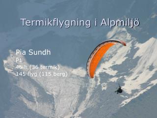 Termikflygning i Alpmiljö