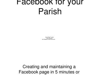 Facebook for your Parish
