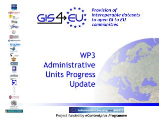 WP3 Administrative Units Progress Update