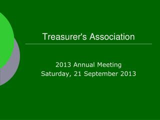 Treasurer's Association