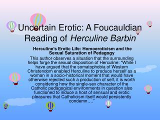 Uncertain Erotic: A Foucauldian Reading of  Herculine Barbin