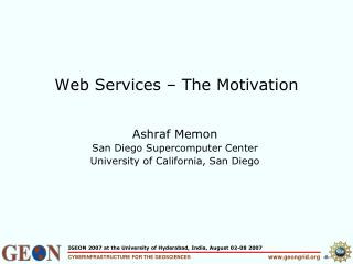 Web Services   The Motivation
