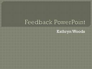 Feedback PowerPoint