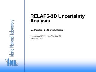 RELAP5-3D Uncertainty Analysis