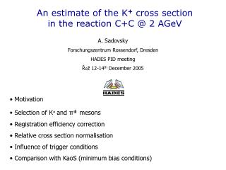 An estimate of the K +  cross section in the reaction C+C @ 2 AGeV