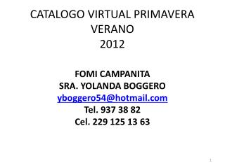 CATALOGO VIRTUAL PRIMAVERA VERANO 2012