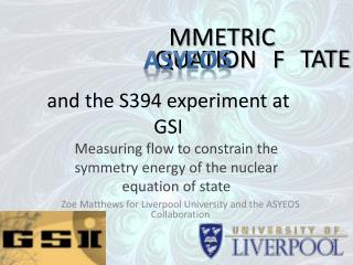 and the S394 experiment at GSI