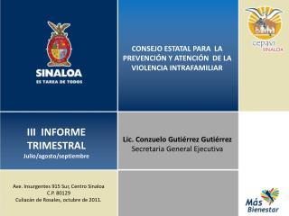 CONSEJO ESTATAL PARA  LA PREVENCIÓN Y ATENCIÓN  DE LA VIOLENCIA INTRAFAMILIAR