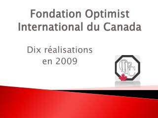Fondation  Optimist International du Canada