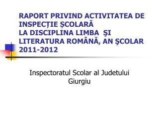 Inspectoratul Scolar al Judetului Giurgiu