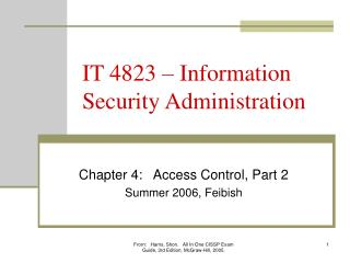 IT 4823 � Information Security Administration