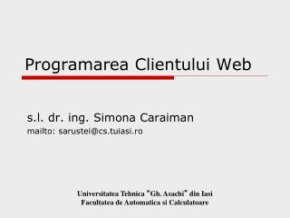 Programarea Clientului Web