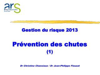 Gestion du risque 2013 Prévention des chutes  (1)