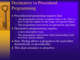 Declarative vs Procedural Programming
