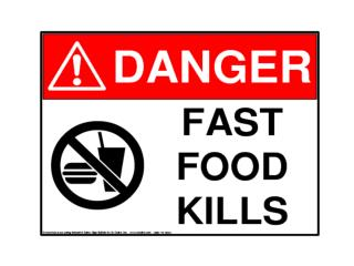 Do you know how  dangerous fast food can be?