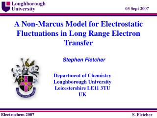 A Non-Marcus Model for Electrostatic Fluctuations in Long Range Electron Transfer
